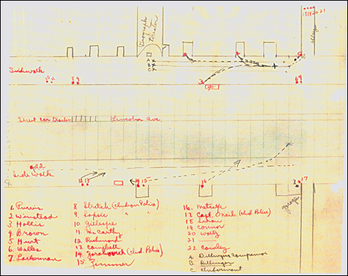 Dillinger Stake Out Plan at the Biograph Theater - FBI file