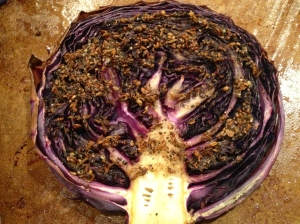 Spiced Red Cabbage Steak