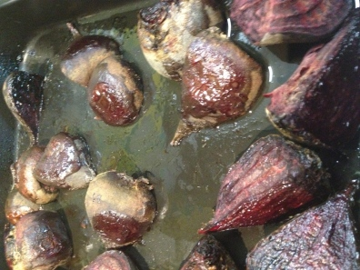Roast beets for Salads