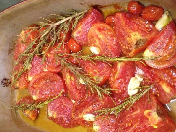 Roast tomatoes for Sauce