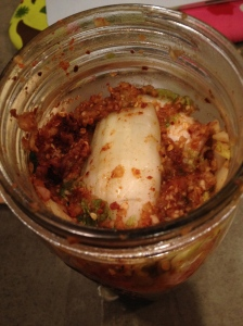 Kimchi before going into the dark